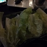 Cabbage to wrap the samgyeopsal!
