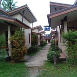 This at the entrance of the bungalows and we stayed at the first one. Clean and spacious.