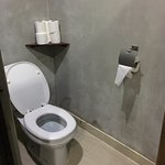 Clean toilet with sufficient supplies of toilet papers