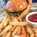 Fried Flounder Sandwich (fresh and HUGE)