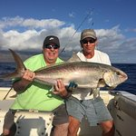 Great fishing 40 pound Amberjack and a 6 foot bronze whaler shark.  March 2026