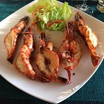 Local grilled Lagoon Prawns