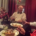 Christmas with good friends, good food and terrific atmosphere.