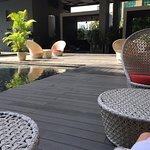 cabana / pool area