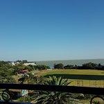 A bird eye view of Lake Tana from my room
