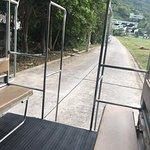 the hotel shuttle bus to batong beach