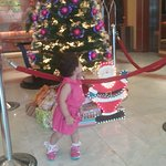Christmas decoration near reception