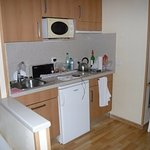 The cooking area - room 412
