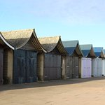 Different stye beach huts
