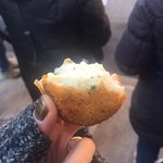 Delicious arancini from Faicco's in Greenwich Village
