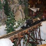 One of the fabulous locomotives hauling logs.