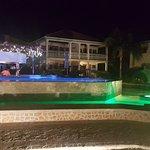 Nightime shot of pool