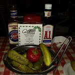 Pickles and steak