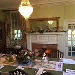 Dining Room for Breakfast, with a fire