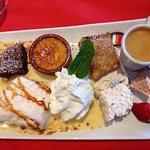 Entrée plat et café gourmand en dessert!! Merci
