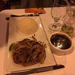 Lechon Asada (Roast Pork) with White Rice & Black Beans. Beans were delicious!