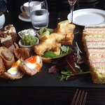 Savoury afternoon tea