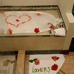 hot bathc waiting for us one night