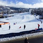 View from Eydallin Sport, ideally located at the foot of the slopes