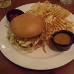 BBQ sandwich and fries
