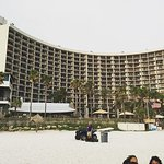 A view of the hotel from the beach!