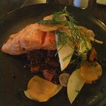 Salmon with Lentils and Winter Squash