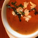 Tomato Bisque with Goat Cheese