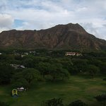 Diamond head from our balcony