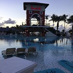 Pool at sunset, very gorgeous resort.