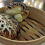 steamed buns that looked just like mushrooms
