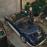 guest enjoying Ronnie's Austin Healy