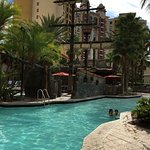 Beautiful hotel and shares amenities (6 pools) with entire Bonnet Creek resort