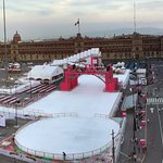Panoramic view of Zocalo square from the roof top restaurant
