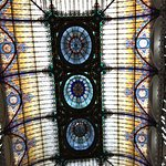 Glamorous stained glass roof