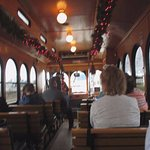 Inside the Trolley, it was warm on a cold day. Left side better for pics