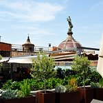 Views to the Gothic Quarter from our roof terrace