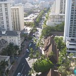 Kalakaua Avenue - view with a View from the Ewa tower