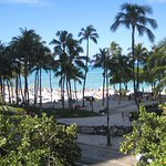 View from the Hyatt Regency overlooking Waikiki Beach