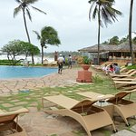 The pool area overlooking the sea!!!