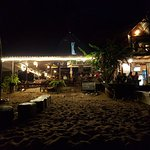 Cabana, as seen from the beach at night