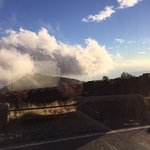 Climbing to Etna from behind the bus window glass.