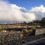 The clouds below Etna slops