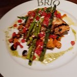 """Light"" Grilled Salmon Fresca -- very good"