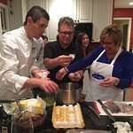 Cooking class with Chef Luigi Gandola in Michigan with Villas and Vines travelers