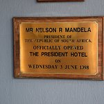 Plaque from the hotel opening