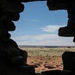 Looking out from Wukoki Pueblo