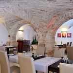 Vaulted ceiling restaurant