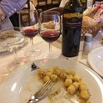 Cheap red with our gnocci
