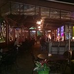 Outdoor atmosphere at night! Very romantic!
