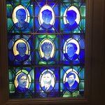 Stained glass window inside Chapter One